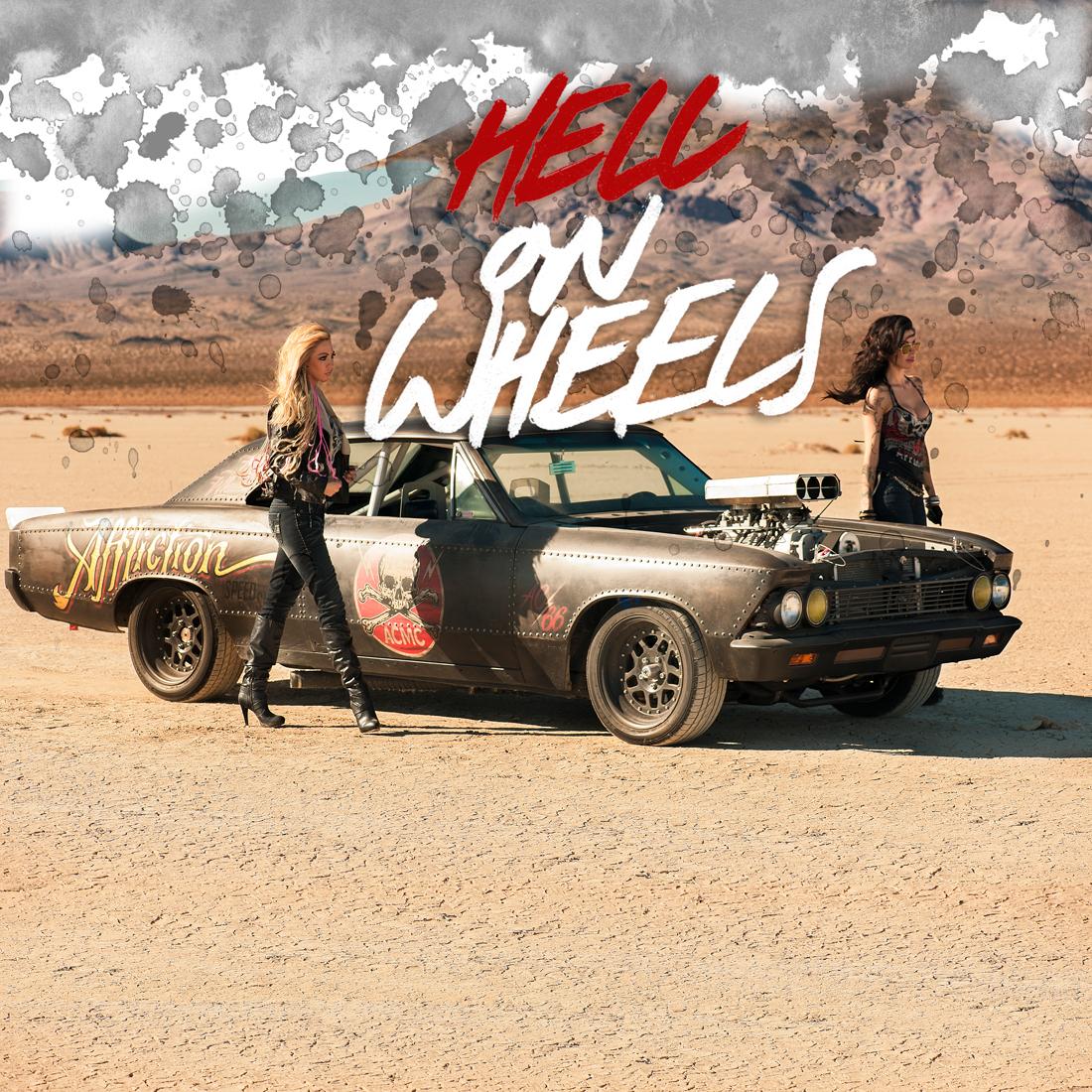 Hell on wheels in desert 2 girls