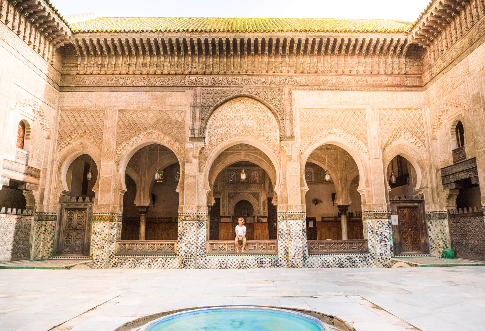 Fes guide things to do medersa bou inania man