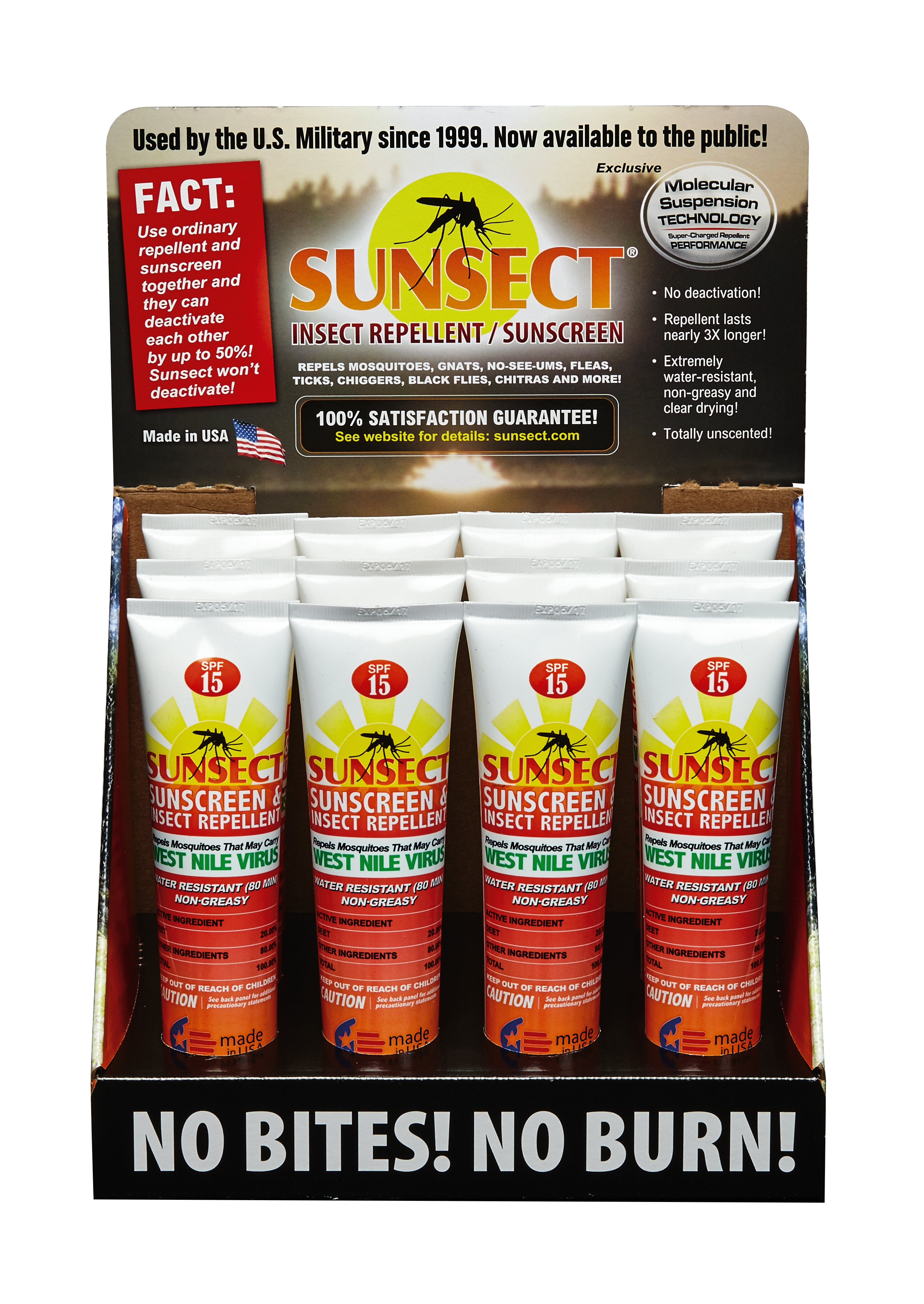 Sunsect display front