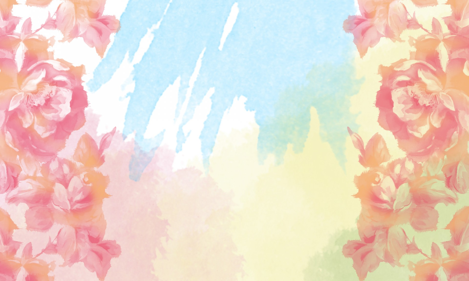 Floral rose watercolor background