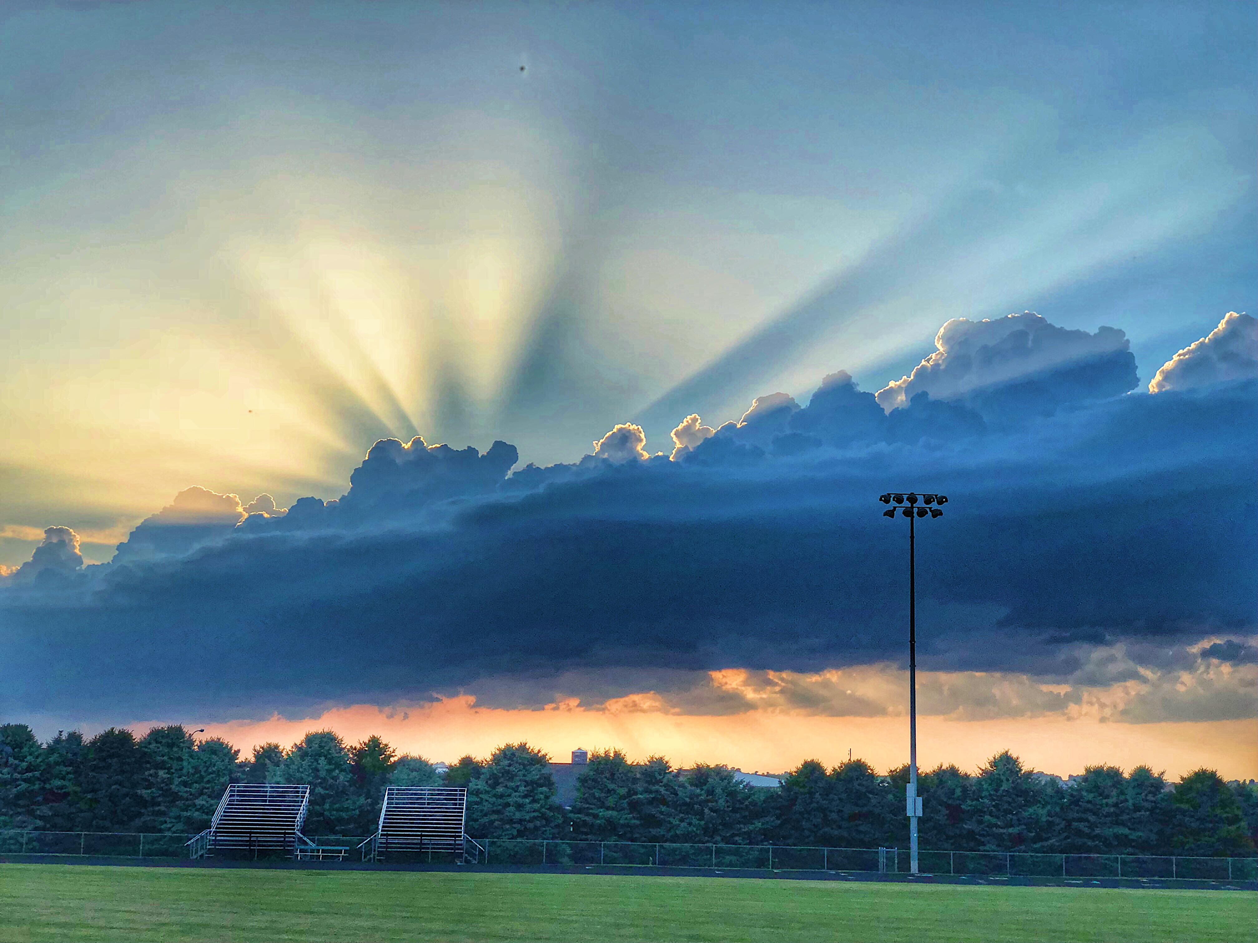 Iowa sunset durant