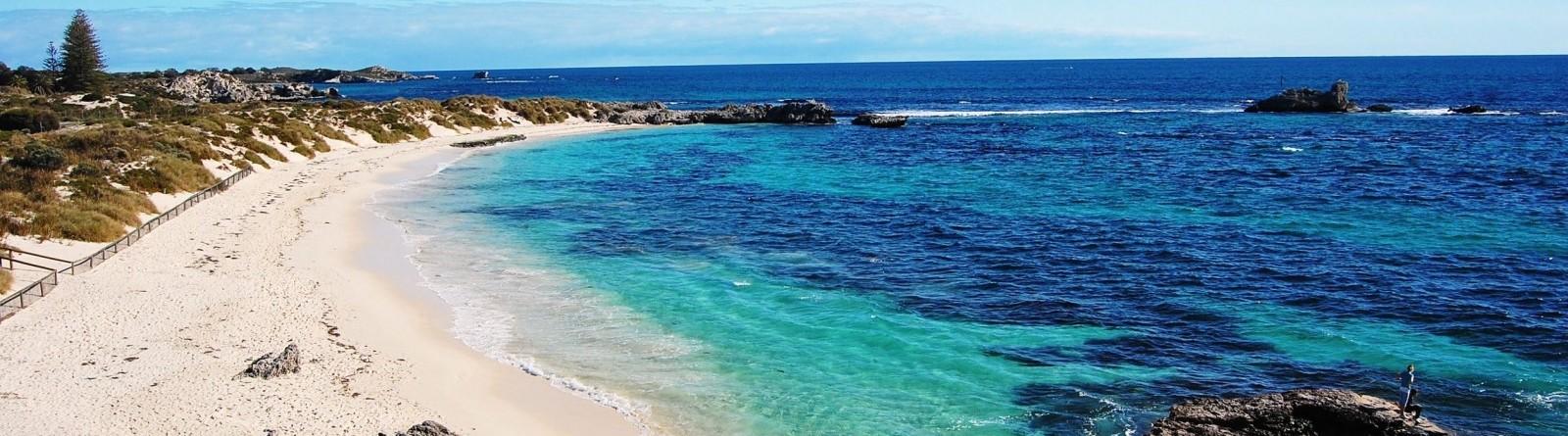 Beautiful beach on rottnest island off the coast of perth australia 1600x1063