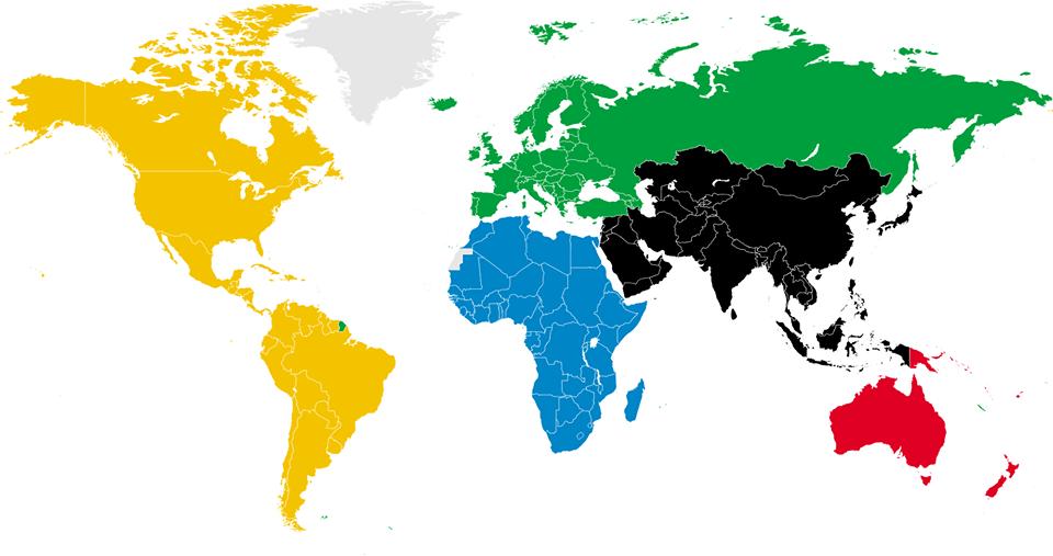 Colour continents