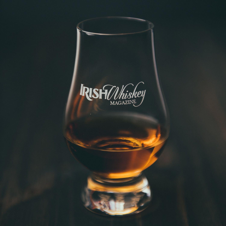 Irish whiskey magazine glass