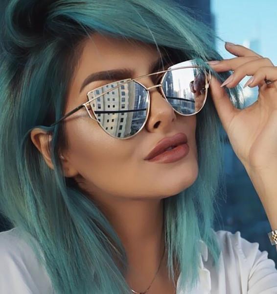 Candisgy cat eye women sunglasses 2016 new brand design mirror flat rose gold vintage cateye fashion 1024x1024