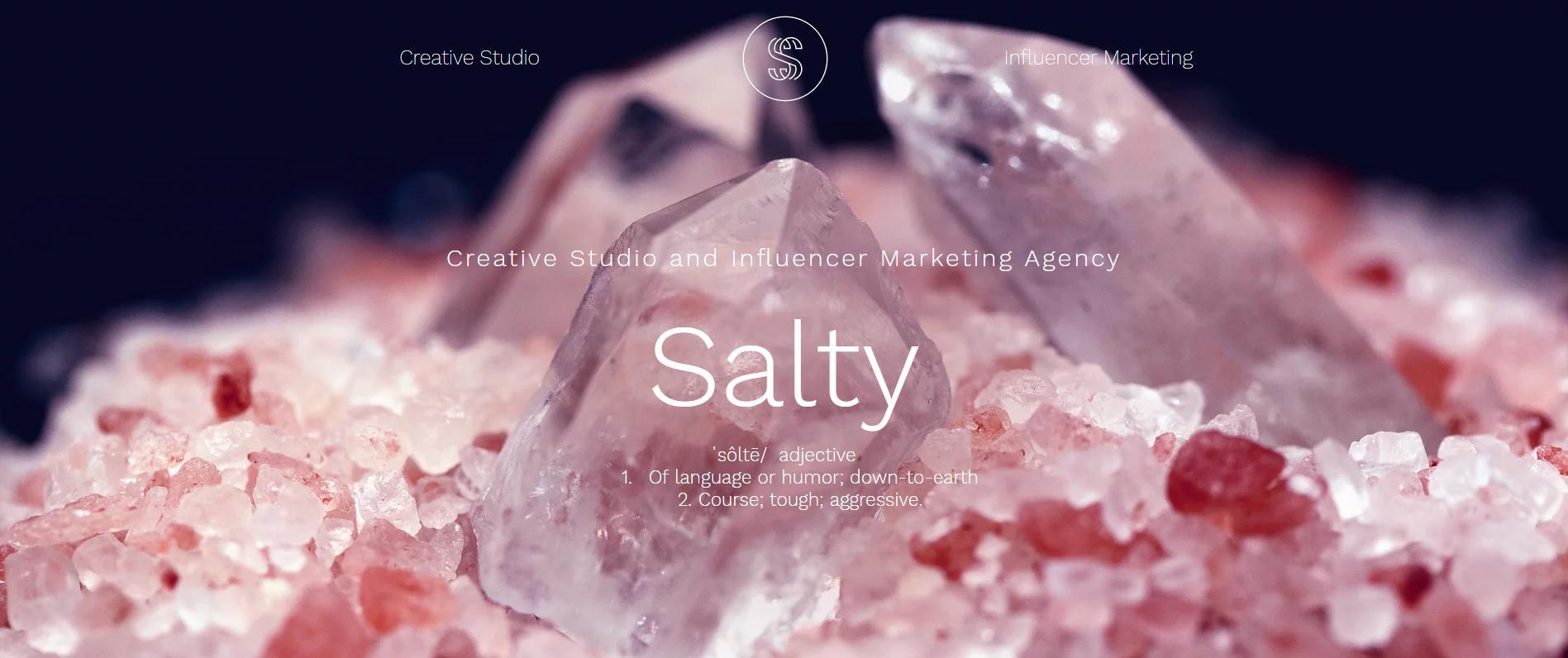 Salty banner