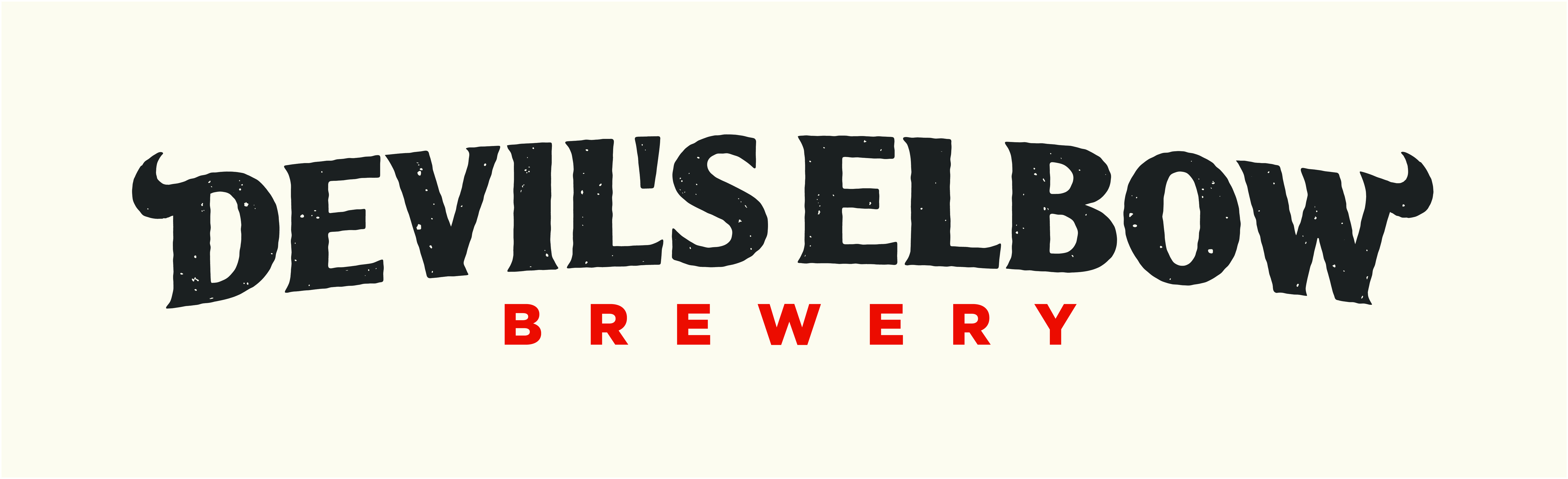 Devils elbow brewery restricted logo reversed cmyk