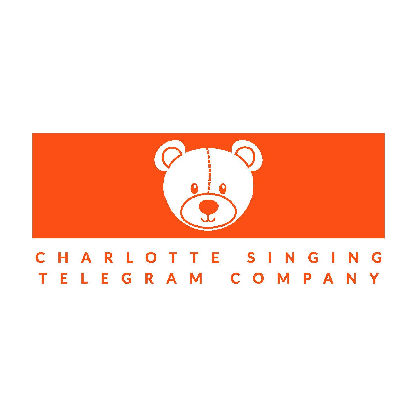 Charlotte singing telegram company logo 001 orange