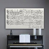 Square thumb sheet music canvas