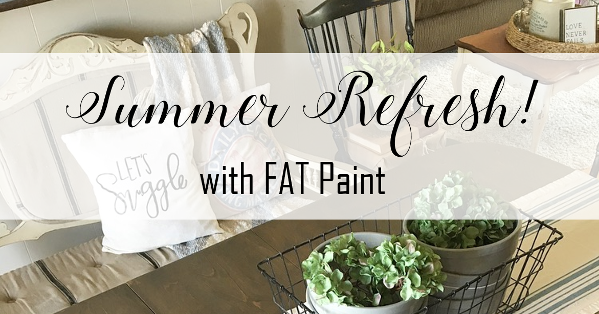 @redbrickonthelake's cover photo for 'Summer Home Refresh with FAT Paint'