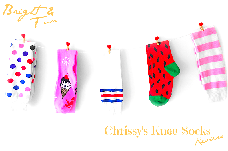 @polkad0tsbeauty's cover photo for 'BRIGHT & FUN | CHRISSY'S KNEE HIGH SOCKS REVIEW'