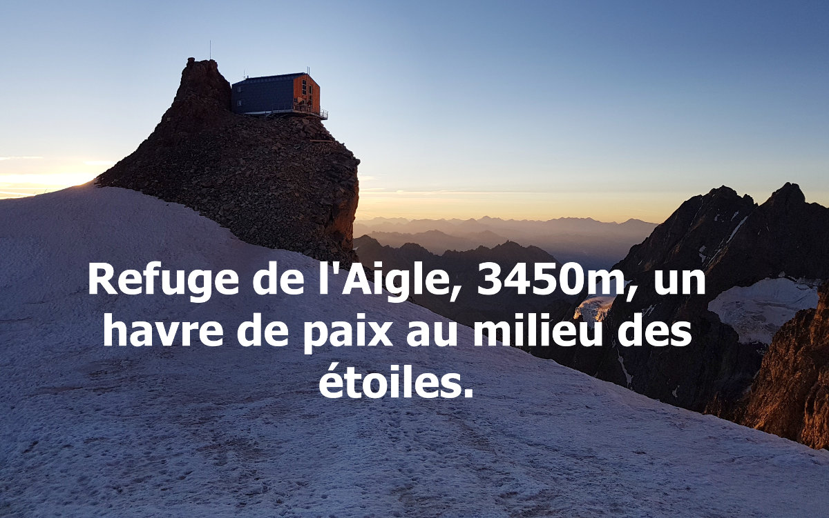@1001pas's cover photo for 'Refuge de l'Aigle : refuge mythique des Ecrins'