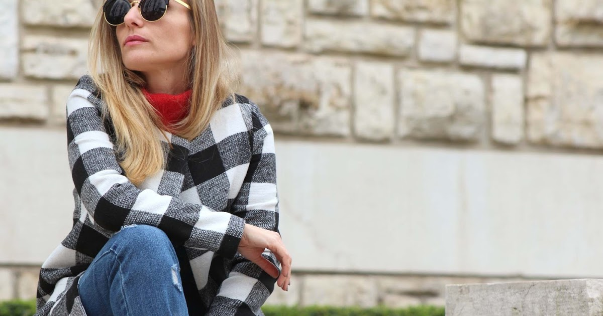 @eniwherefashion's cover photo for '#Outfit: Check coat from SheIn'