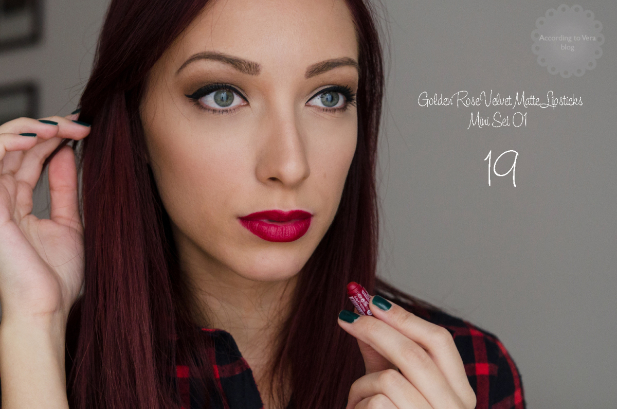 @veradimov's cover photo for 'Golden Rose|Velvet Matte Mix Lipsticks 01'