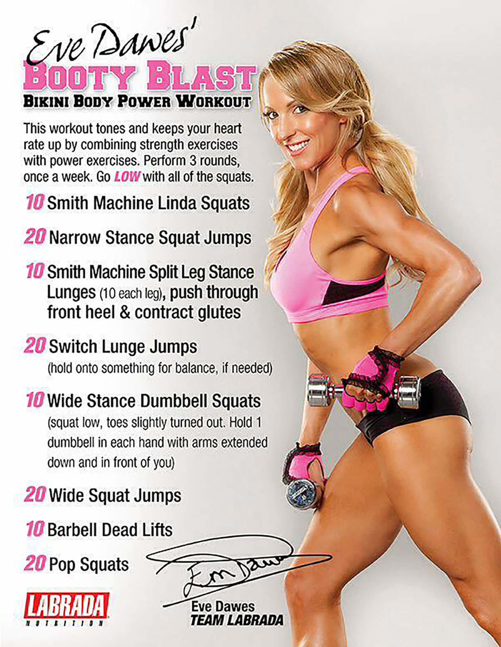 @evedawes's cover photo for 'Bikini Butt Power Workout To Lift & Tone Your Glutes'