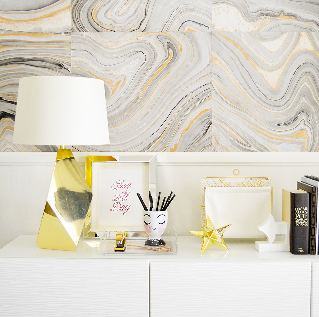 @ahappyblog's cover photo for 'Erin Condren Desk Makeover - a Happy blog'