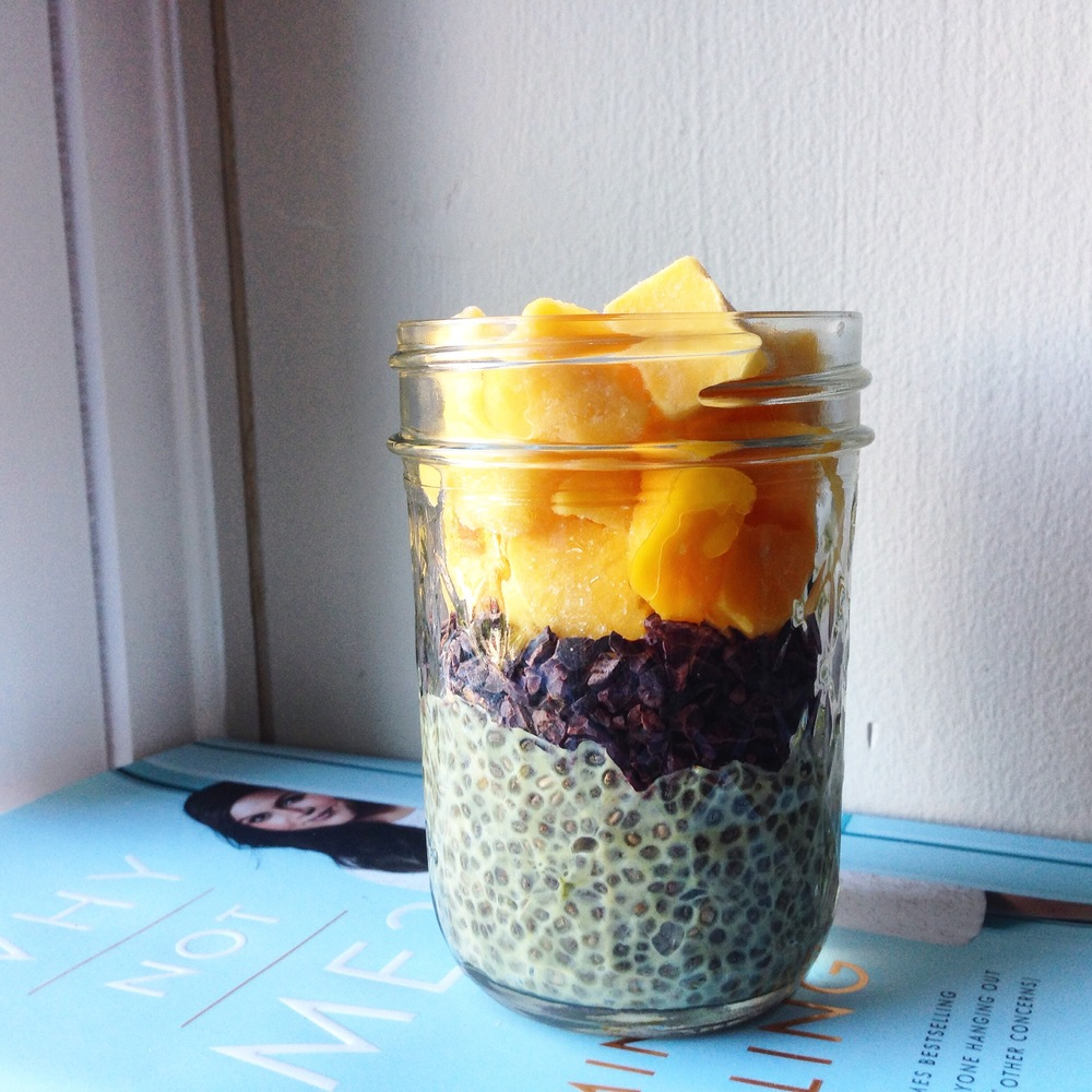 @approachingpaleo's cover photo for 'easy matcha chia seed pudding'
