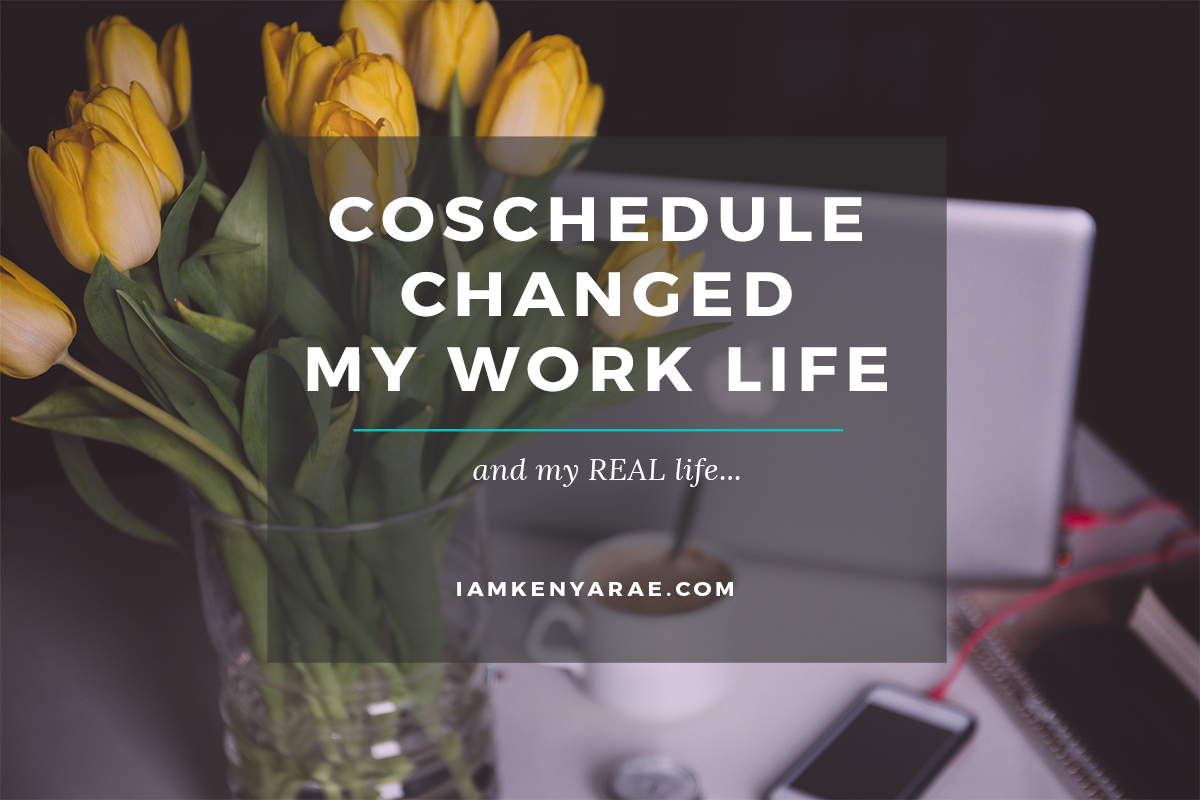 @kenyaraeathome's cover photo for 'CoSchedule Changed My Blog Life...'