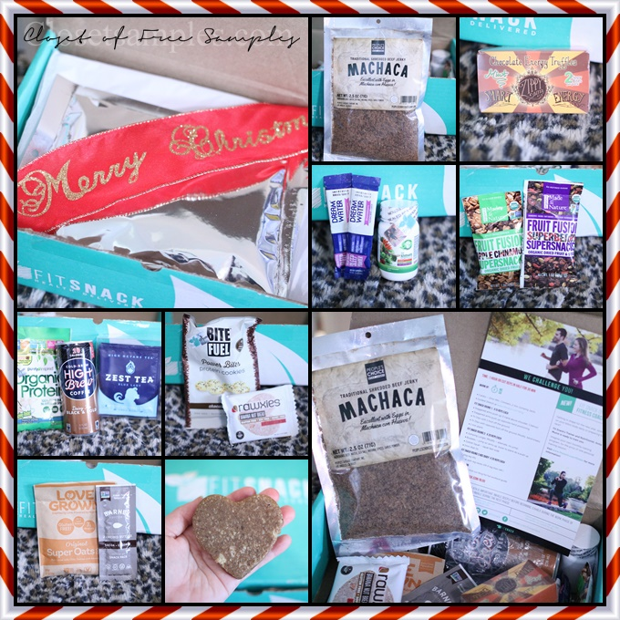 @closetsamples's cover photo for 'FitSnack December 2016 Subscription Box #Review'