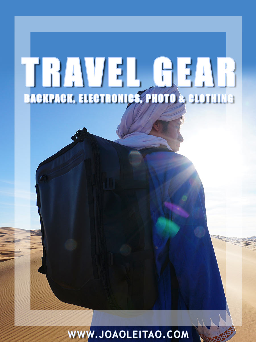 @joaoleitaoviagens's cover photo for 'Travel Gear: My Backpack, Electronics, Photo & Clothing'