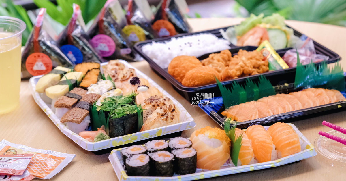@myfunfoodiary's cover photo for '[NEW SPOT] AEON SUSHI Dash & Go for Take Away Sushi'
