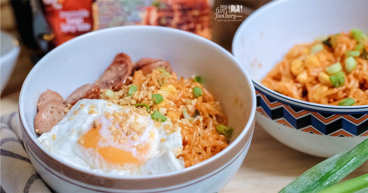 @myfunfoodiary's cover photo for '[NEW POST] PALDO BULNAK Irresistable Sweet Spicy Korean Ramen'