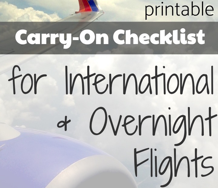 @bonjouradventure's cover photo for 'Carryon Packing Checklist for International Travel'