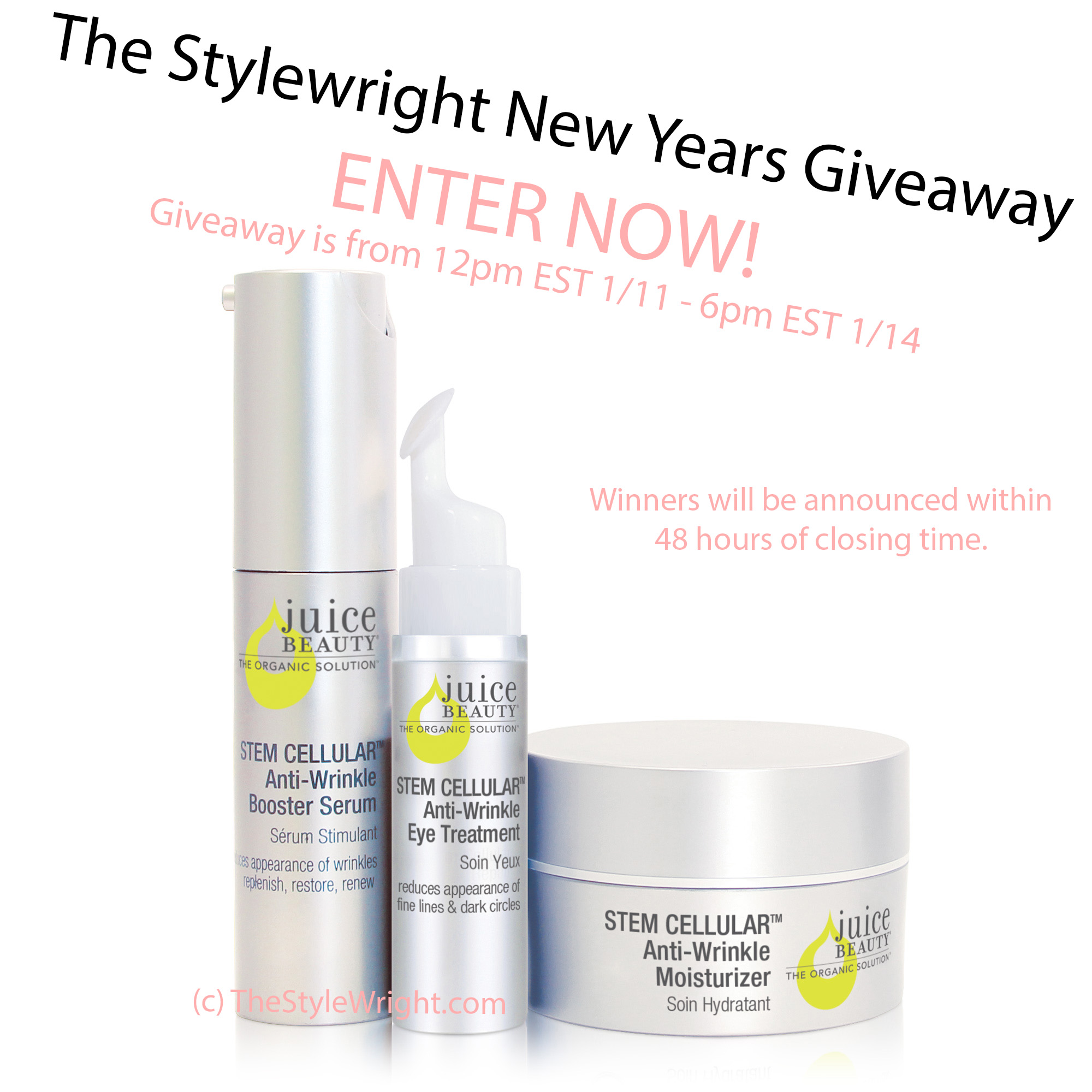 @thestylewright's cover photo for 'The StyleWright New Years Giveaway with Juice Beauty! - the StyleWright'