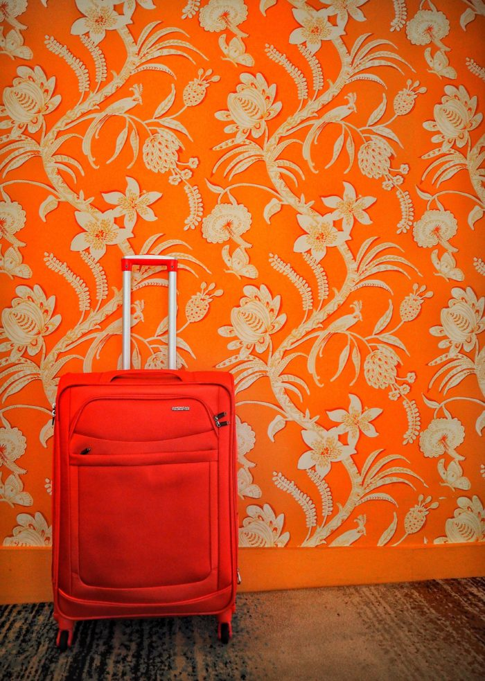 @taylor_fuller's cover photo for 'Traveling Colorfully With American Tourister - #travelcolorfully'