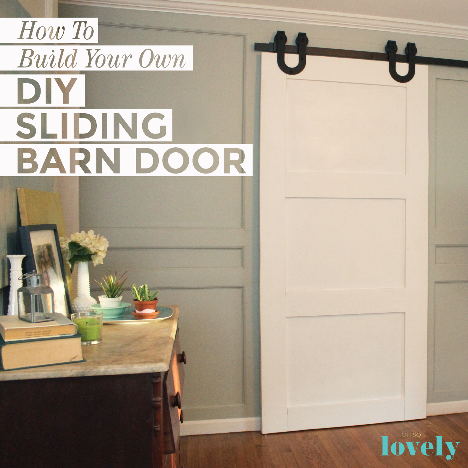 @ohsolovely_blog's cover photo for 'How to build your own DIY sliding barn door - A compete tutorial'