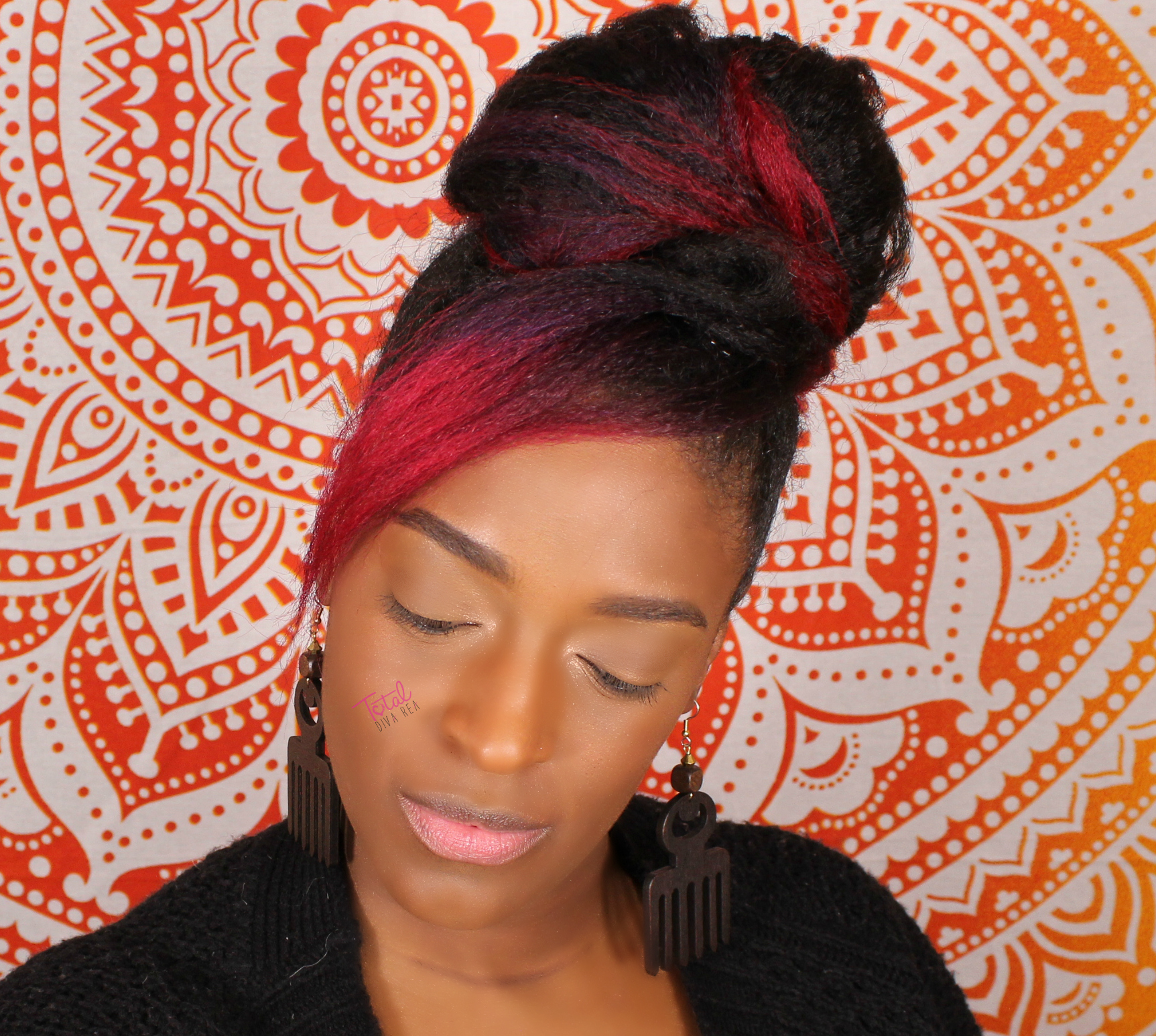 @totaldivarea's cover photo for 'Faux Bun & Bang w/ KRS Hair Group Clip-Ins'