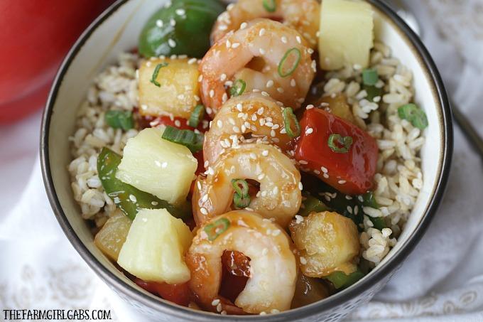 @thefarmgirlgabs's cover photo for 'Hawaiian Shrimp Rice Bowl 30-Minute Meal - The Farm Girl Gabs®'