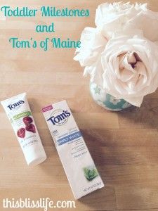 @thisblisslife's cover photo for 'Toddler Milestones and Tom's of Maine! - This Bliss Life'