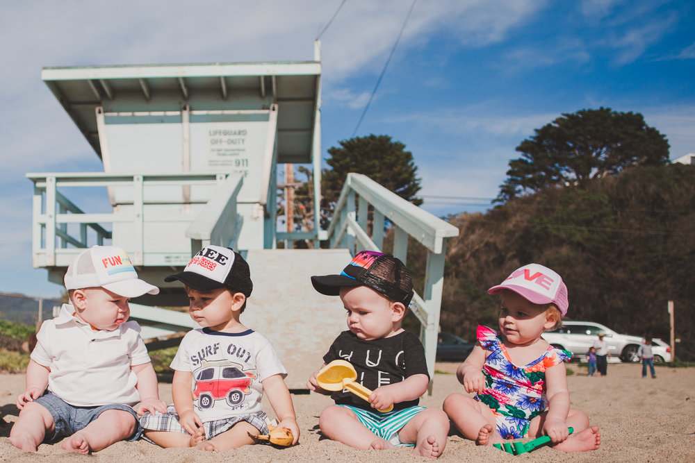 @theoverwhelmedmommy's cover photo for 'Beach Day with our Babies | Baby Trucker Hats by Bubba's Truckers'