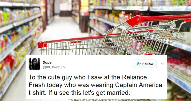 @icleopetra's cover photo for 'Cute guy she saw at a Reliance Fresh store'