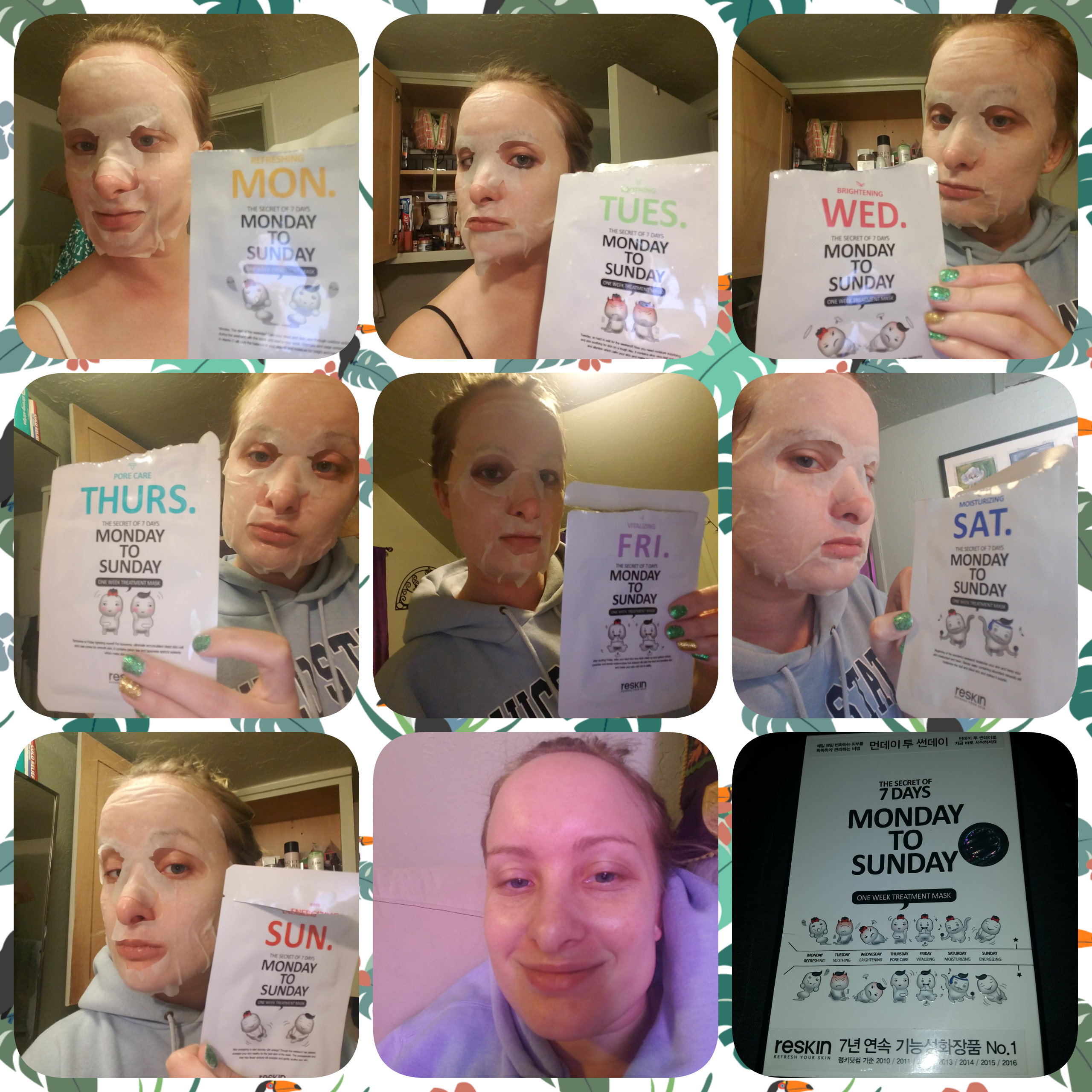 @rachp2003's cover photo for 'Reskin The Secret of 7 Days Monday to Sunday One Week Treatment Mask Review'