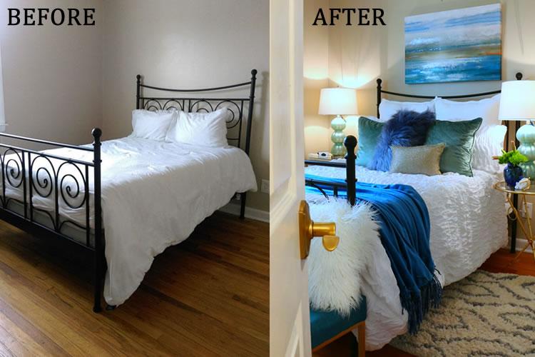@onbetterliving's cover photo for 'Easy One Room Refresh: Guest Room Makeover | Better Living'