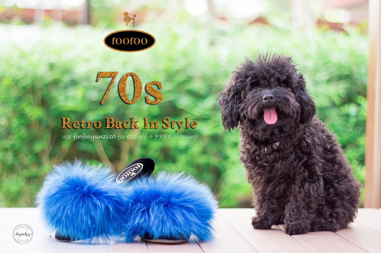 @joysofyz's cover photo for 'Joysofyz: [Fashion]: Get Your Limited In Trend Fur Mule Sheepskin Wedges at fOOfOO Slippers'