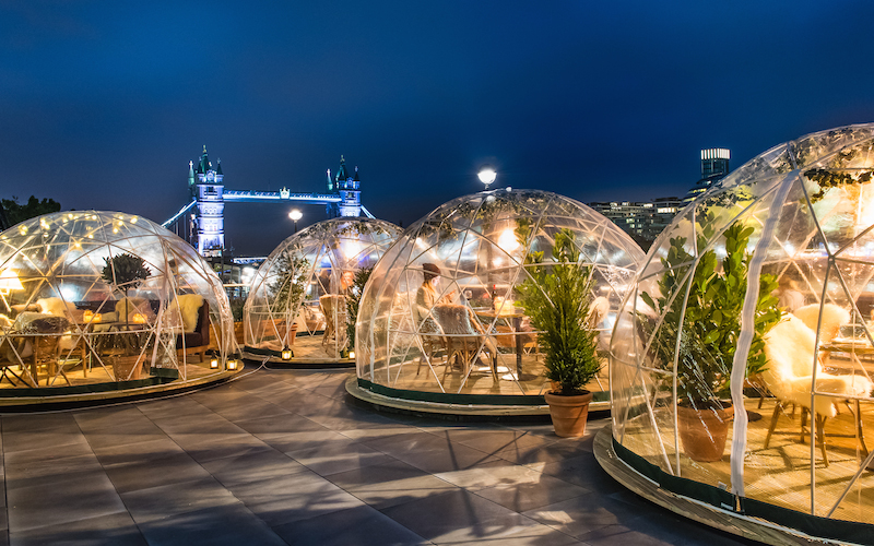 @londontheinside's cover photo for 'IGLOOS AT COPPA CLUB - London On The Inside'