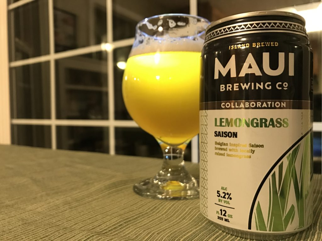 @beerselfie's cover photo for 'Maui & Lost Abbey Lemongrass Saison'