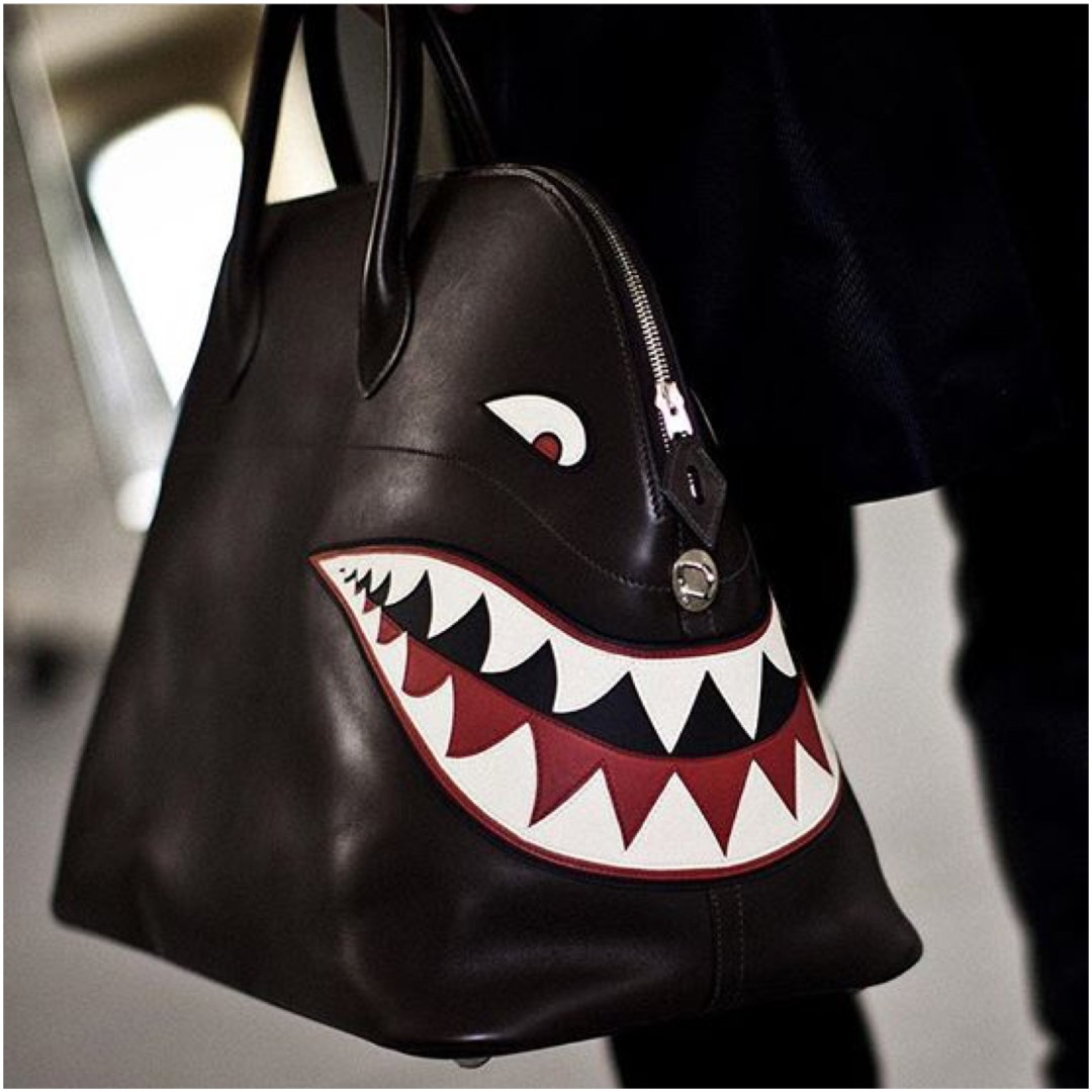 @emmechatterton's cover photo for 'The $28,000 Shark Bag by Hermès & Opulent Art Handbags and Designer Purses ⋆ Paper Duchesses'