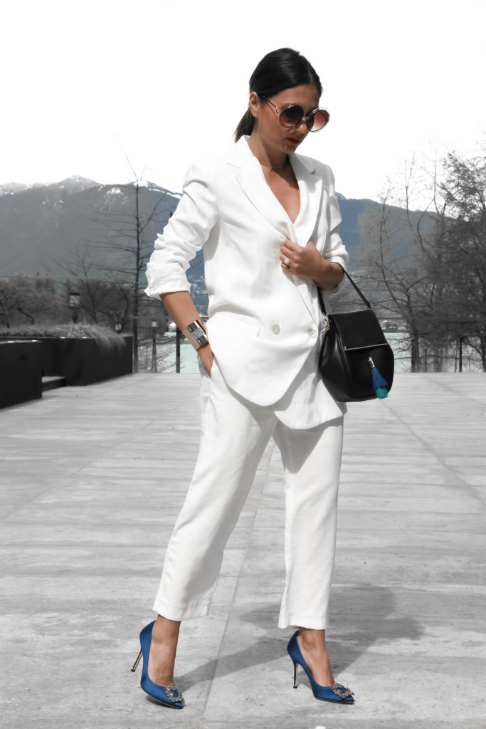 @aurelafashionista's cover photo for 'TWO WAYS TO WEAR: THE CLASSIC WHITE SUIT! - Aurela - Fashionista'