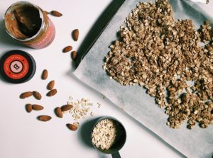 @bunchofbri's cover photo for 'Homemade Almond Butter Granola Recipe'