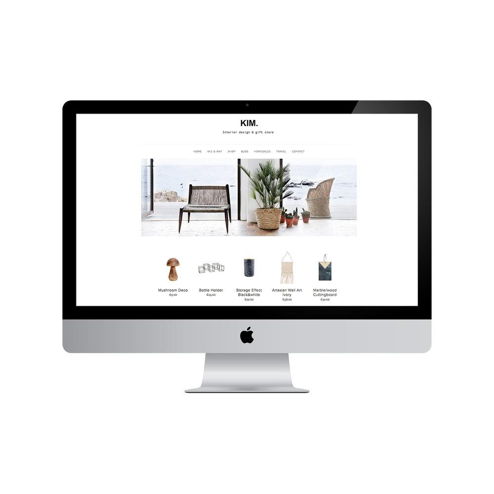 @femlee's cover photo for 'KIM.: Squarespace design + postcards'