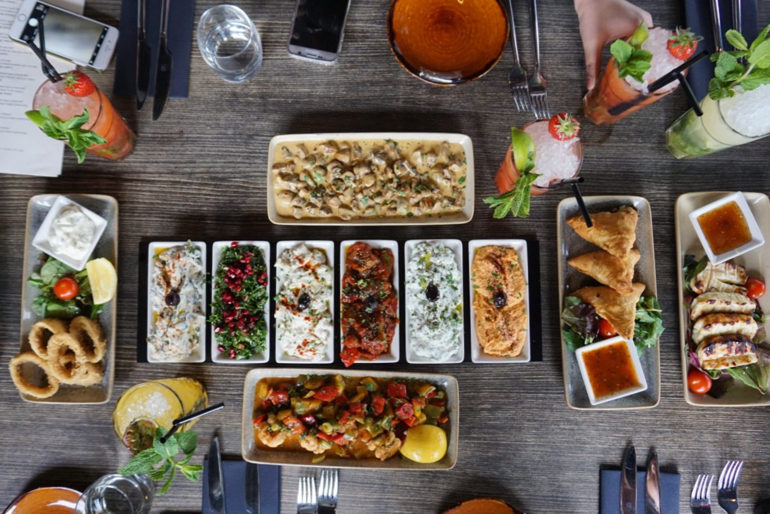 @etfoodvoyage's cover photo for 'Tarshish: Turkish and Mediterranean Grill - London Rooftop Dining - ET Food Voyage'
