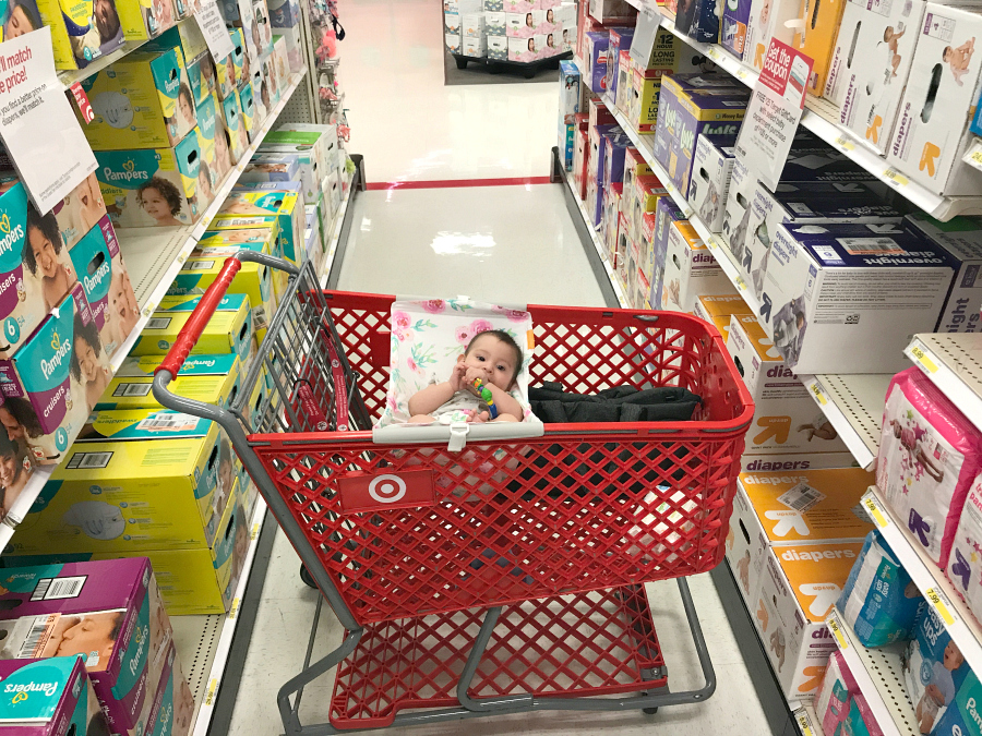 @michelleanncantu's cover photo for 'Binxy Baby Shopping Cart Hammock For Babies - A Thrifty Diva'