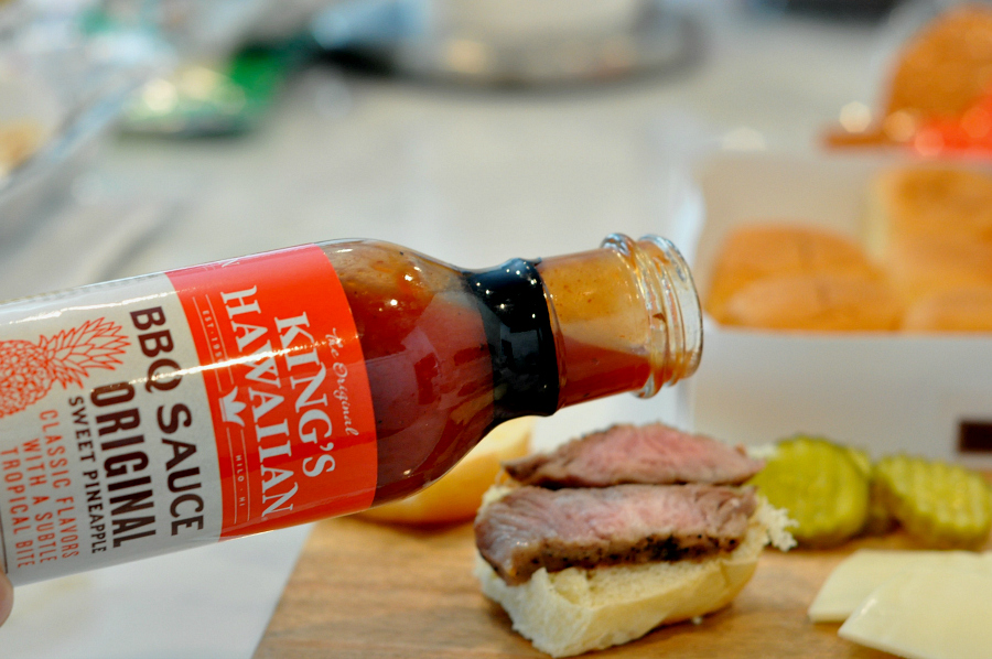 @michelleanncantu's cover photo for 'HEB Game Time Grilling Pork Steak King's Hawaiian Sliders - A Thrifty Diva'