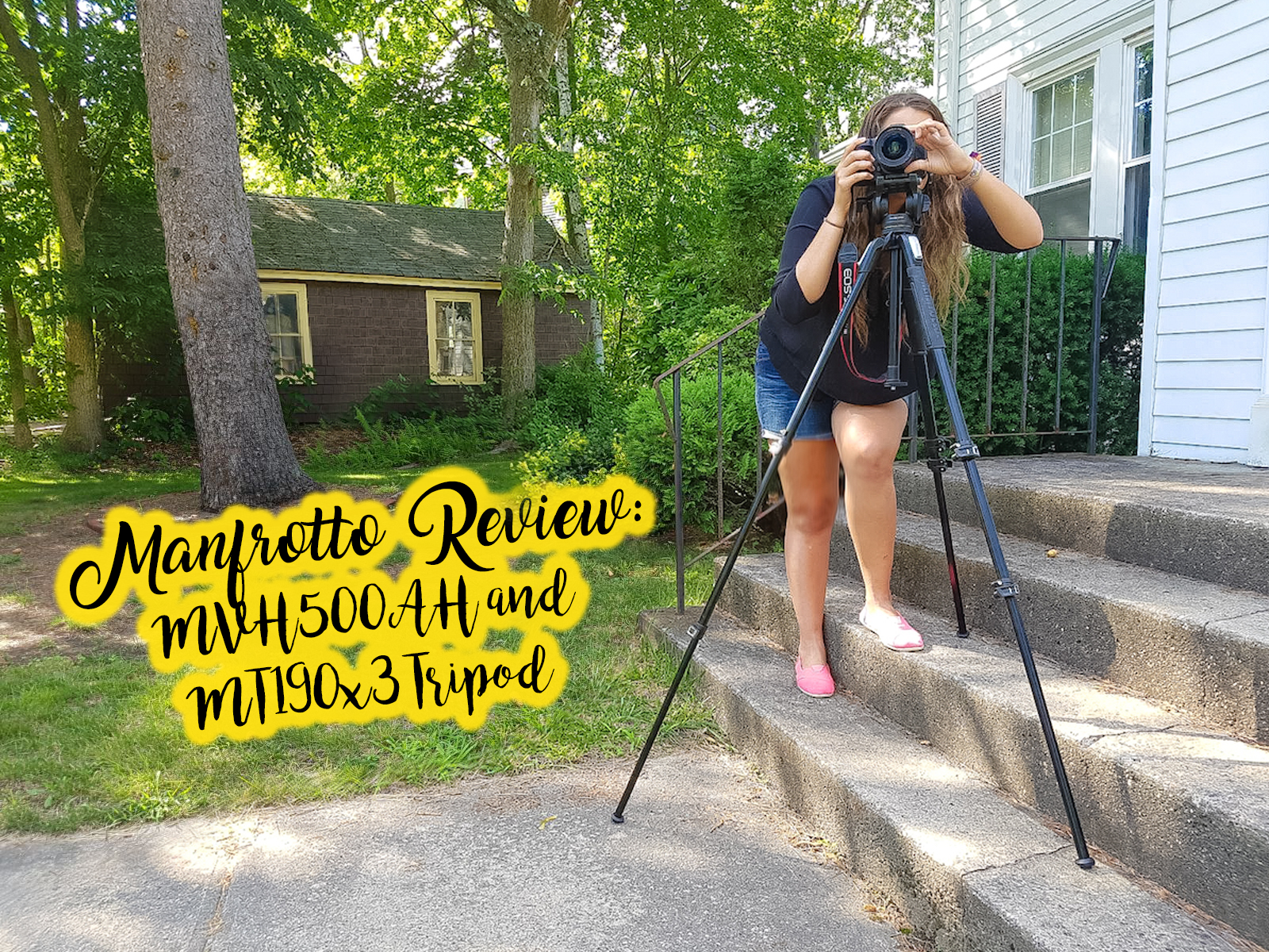 @traveltoblank's cover photo for 'Manfrotto MVH500AH and Manfrotto MT190x3 Tripod Review - Travel To Blank Travel Guide'