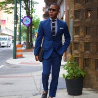 @mensstylepro's cover photo for 'Heightened Navy Plaid Suit Two Ways w/ Sean John | Men's Style Pro | Men's Style Blog & Shop'