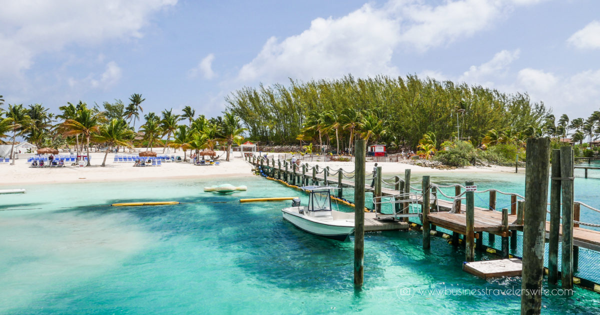 @businesstravelerswife's cover photo for 'VIP Beach Day and Dolphin Encounter on Blue Lagoon Island, Bahamas'